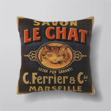 Savon Le Chat Cat French Cushion Covers Pillow Cases Decor Inner