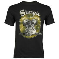 Sturgis Harley-Davidson® Men's Vintage Black Short Sleeve T-Shirt