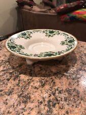 Lenox 8� Ivory-Green Foliage Design With Gold Trim Pedestal Serving Bowl