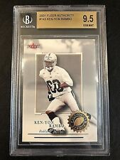 2001 Fleer Authority Ken-Yon Rambo Rookie Beckett Graded 9.5 - Oakland Raiders