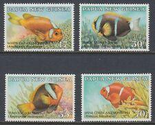 Papua-Neuguinea 1987 ** Mi.539/42 Fische Fish Anemonefish [st1558]