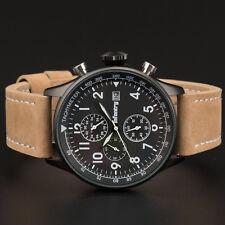 INFANTRY Herren Uhr Armbanduhr Outdoor Chronograph Leder Sport Militär Edelstahl
