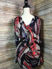 Women's CATO Career/Work Pretty Top Stretch Waterfall Neck EUC Size X-Large