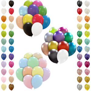 100 Stück Premium Luftballons Bunt Geeignet mit Ballonpumpe und Ballon-Klipp DE