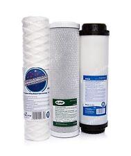 Set di 5 Micron stringa • blocco di carbonio • filtro attivato • OSMOSI INVERSA • Sostituzione