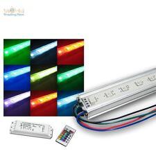 SET 4 x 50cm RGB SMD LED-Lichtleiste + allem Zubehör, Unterbauleuchte multicolor