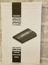 Clarion Manual APA4203 APA4162 4 Channel Car Audio Amplifier Operation Install