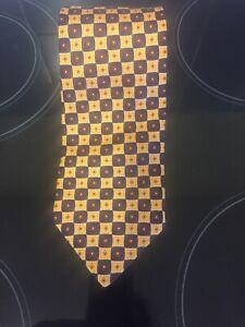 "Men's Neck Tie Cavenagh London 4"" Wide 55"" Long Silk  Kipper New Never Used"