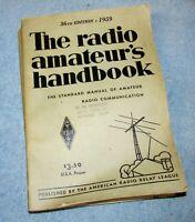 Vintage 1959 ARRL RADIO AMATEUR'S HANDBOOK 36th Edition SC J578