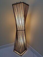 Rattan Twist Floor Lamp-100cm/Handcrafted/Rustic/Bamboo