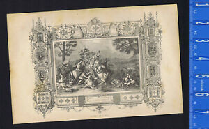 Defeat of Porus at Battle of the Hydaspes -Greek History - 1846 Wood Engraving