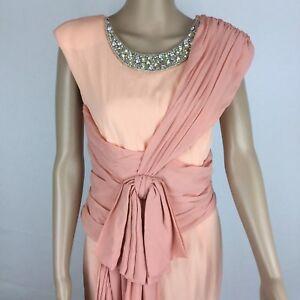 Viktor & Rolf Soir Evening Gown Embellished Neckline Draped Size 40 or 8 (BD14)