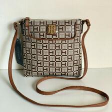 NEW! TOMMY HILFIGER BROWN CROSSBODY SLING MESSENGER BAG PURSE $69 SALE