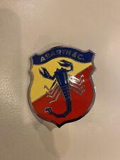 Rare Fiat VINTAGE ENAMEL CAR Badge ABARTH & C. ITALY ITALIA 1950's 1960's