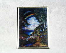 "LOUIS C. TIFFANY ""RAINBOW"" LARGE GLASSMASTERS STAINED GLASS PANEL,LOVELY EXAMPLE"