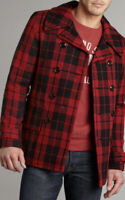 New Ralph Lauren Denim Supply XX-Large Red Plaid Jacket PeaCoat RRL Rugby Polo