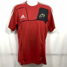 Adidas Munster Rugby Ireland Jersey Men's Size L Red Fitted Stretch Fit