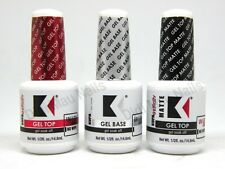Kupa Gelfinity Gel TOP COAT, BASECOAT, MATTE UV/LED Cure Soak Off .5oz NEW 3PCS