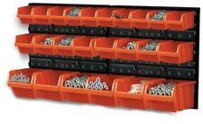 24 boxes Wall Mounted Organiser Board Bins For Garage Tools Storage Workshop
