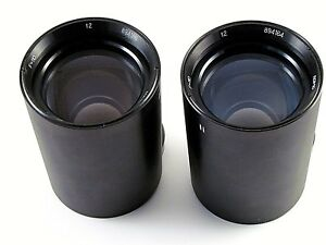 TWO Soviet projection lens of the projector LOMO PO502-1 F110mm 894164,894186