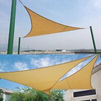 Dreieck Sonnensegel Sonnenschutz Garten Sonnendach UV-Schutz Beschattung 3x3x3m
