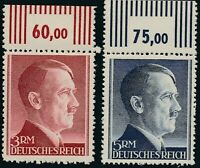 Stamp Germany Mi 799-802 Sc 524-7 1941 WW2 3rd Reich Hitler Tabs Top MNH