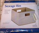 "Design Trend - Canvas Storage Bin - 10"" x 13"" x 13"" - NIP!"