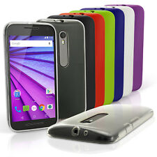Glossy TPU Gel Case for Motorola Moto G 3rd Gen XT1540 Skin Cover + Screen Prot