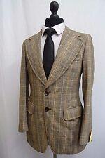 Men's - yorkais Marron Carreaux Vintage Veste en Tweed Blazer 38R SS8461