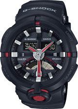 Casio Men's G Shock Urban Sport Black/Red Resin Ana-Digital Watch GA500-1A4