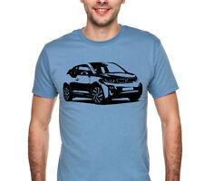Car T-shirt BMW i3 2013 gift present hatchback electric car sale price rims A150