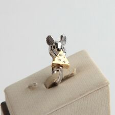 Kate Spade New York Year of The Rat Gold Silver rat Cheese Stud Rind Size 6