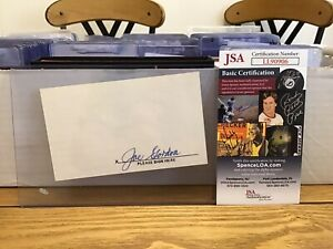 HOF Joe Gordon Signed Index Card Cut Auto JSA COA