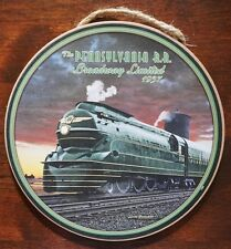 Pennsylvania Railroad 1937 Locomotive Train Steam Engine Round Sign Decor - NEW