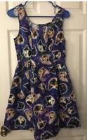 Retrolicious Space Galaxy Cat Pocket Dress Medium Mod Cloth Hot Topic