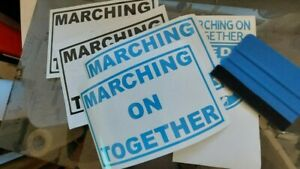 Leeds United 'Marching On Together' Vinyl Decal Sticker for Car/Window/Wall