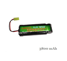 8.4V Ni-MH 3800mAh Rechargeable Battery Pack For RC Car Tank Airsoft Tamiya Plug