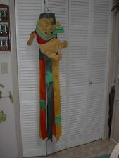 """Winnie the Pooh Fall Leaves Garden Porch WindSock flag 64"""" Nwot Acme Disney"""