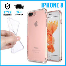Transparent Gel Clear Bumper Case Cover Cas Etui Coque Silicon For iPhone 8