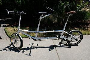 "Medium size. NEW Bike Friday ""Tandem Traveler XL"", Rohloff hub, parking brake"