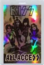 KISS 2001-02 TOUR LAMINATED BACKSTAGE PASS Foil printed