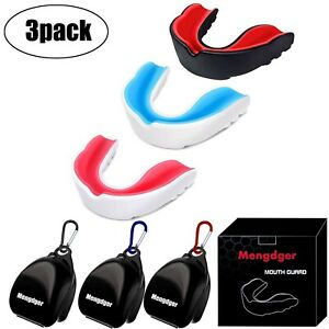 Youth Mouth Guard Mouthpiece Teeth Protective Braces EVA Double Colored