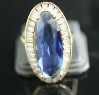 TURKISH HANDMADE SAPPHIRE STERLING SILVER 925K RING SIZE 8,5