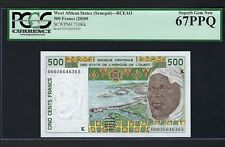 French West Africa(Senegal)  500 Francs  P710Kk Uncirculated Graded 67