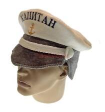 Sauna Hat Captain Russian Banya Saunahattu Wool Saunahut Bath Cap Felt Bania