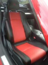 Fits for Nissan 2003-2008 350Z Synthetic Leather Seat Covers Black/Red