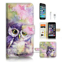 ( For iPhone 7 ) Wallet Case Cover P4102 Baby Owl