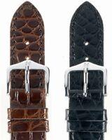 Uhrenarmband HIRSCH Regent - Uhrenband - Louisiana Alligatorflanke - matt