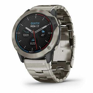 Garmin Quatix 6x Solar Titanium 51mm Smartwatch GPS Marine Watch 010-02157-30