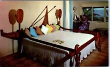 KAUAI, HI  Hawaii   Interior COCO PALMS HOTEL  Outrigger Bed     Postcard